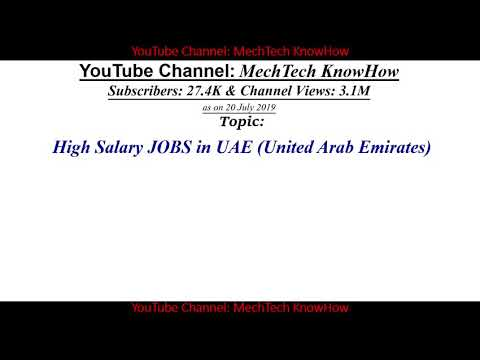 High Salary Job In UAE, High Salary Dubai, Aircraft Mechanic, Electrician, Draughtsman, QA Inspector