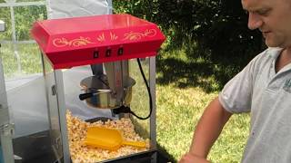 How to use 8oz Popcorn Machine (kettle) - Party Rentals / Home Theater / Movie Night FULL DEMO!