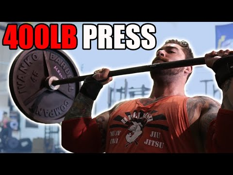 400 press for reps and I try 300lb strict press?! (tips for a big overhead press)