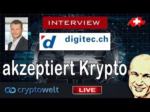digitec akzeptiert Kryptowährung - Breaking News - Interview mit digitec LIVE