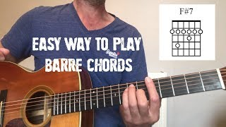Barre Chords Made Easy - Guitar lesson by Joe Murphy