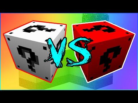 WHITE VS RED LUCKY BLOCK BATTLE