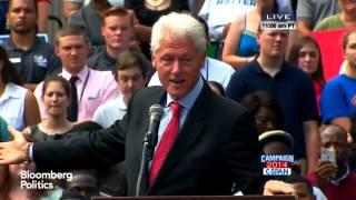 Bill Clinton Rallies Democrats in Arkansas