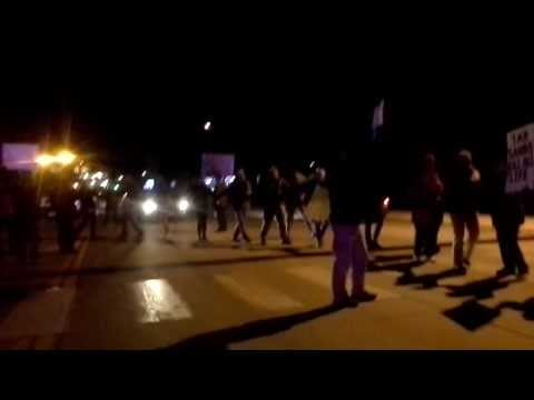Idaho & Montana Tar Sands Megaload Protests! Missoula, Montana 3-13-14