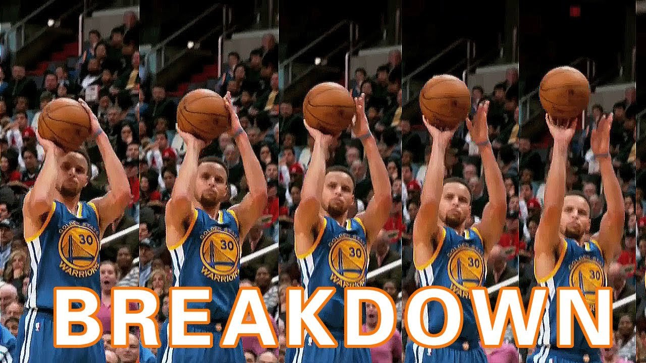 4cd29874fad Stephen Curry Shooting Form Breakdown Frame by Frame - YouTube