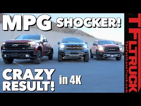 MPG Disappointment:  Ford Raptor vs Chevy Silverado Trailboss vs Ram Rebel!