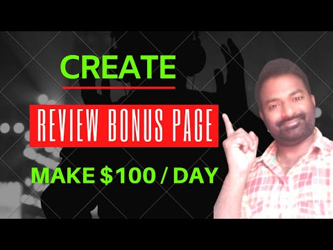 [Affiliate Marketing] Earn $100 A Day with Review Bonus Page | Telugu thumbnail