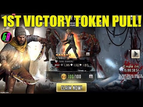 1st Victory Token Pull! - Walking Dead Road to Survival