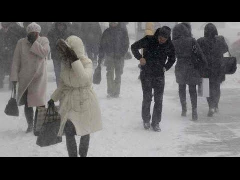 Kazakhstan:snowpocalypse that Astana Gripped By. strong winds which have damaged buildings and cars