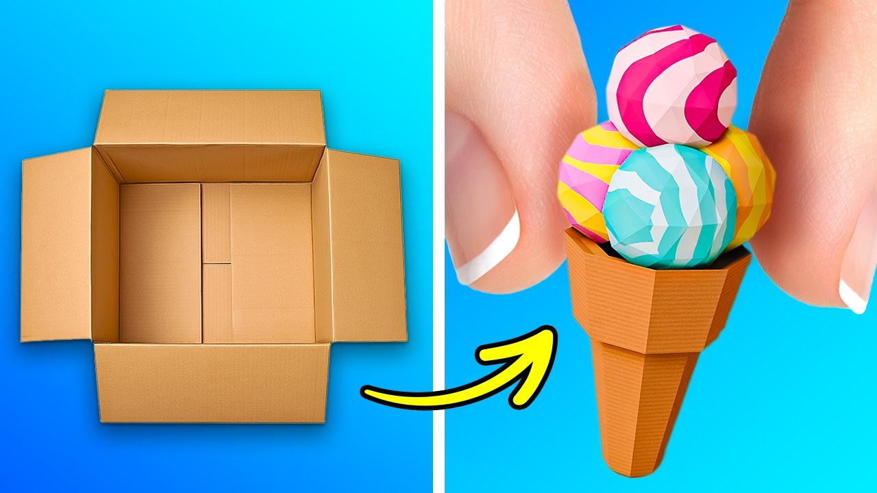 Cute And Cheap Cardboard Crafts For The Whole Family || DIY Playhouse Ideas And Home Decor