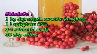 Lecznicza nalewka z owoców jarzębiny.