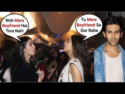 Sara Ali Khan Fight With Ananya Pandey Over Kartik Aryaan In Front Of Media