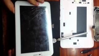 видео Замена экрана на  планшете Samsung Galaxy Tab 3,2,1  10.1 без замены тачскрина.