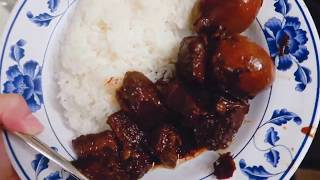 Making Hmoob Nqaij Qab Zib/Hmong Sweet Pork (not a recipe VDO)