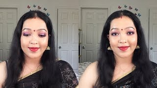 Durga Puja Makeup Tutorial 2018