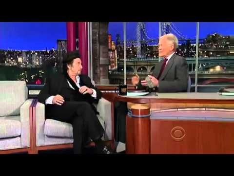 Al Pacino  on David Letterman  2013