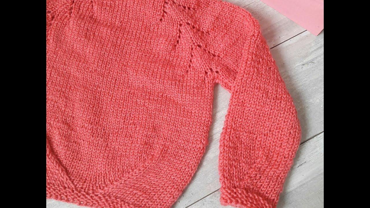 Вяжем детские свитера сверху