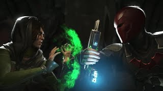 Injustice 2 : Enchantress Vs Red Hood - All Intro/Outros, Clash Dialogues, Super Moves