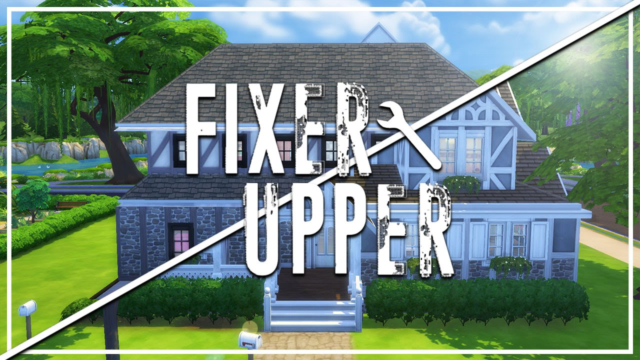 the trash house the sims 4 fixer upper home renovation first episode youtube. Black Bedroom Furniture Sets. Home Design Ideas