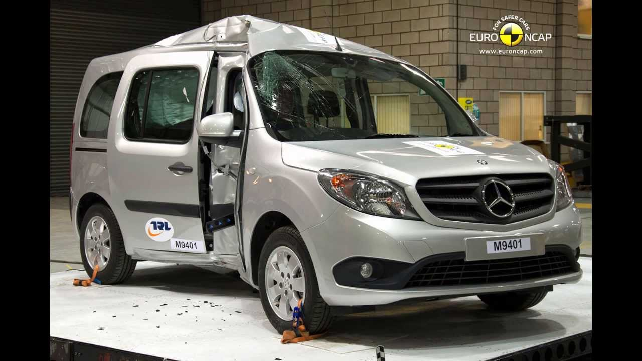 euro ncap mercedes benz citan kombi 2013 crash test with after crash test photos youtube. Black Bedroom Furniture Sets. Home Design Ideas
