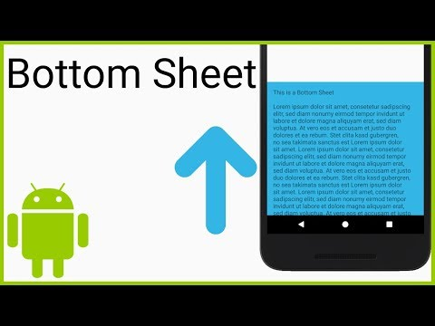 Persistent Bottom Sheet - Android Studio Tutorial - YouTube