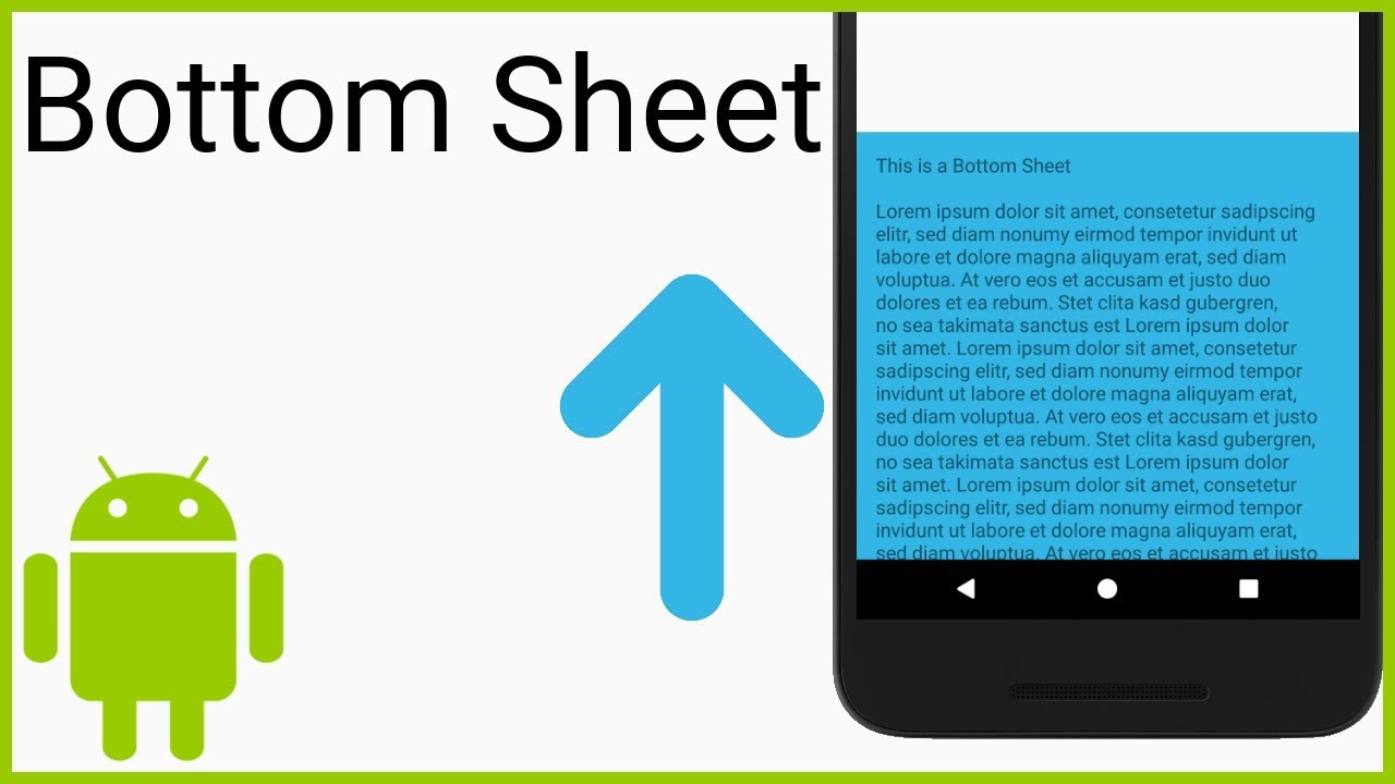 Persistent Bottom Sheet - Android Studio Tutorial