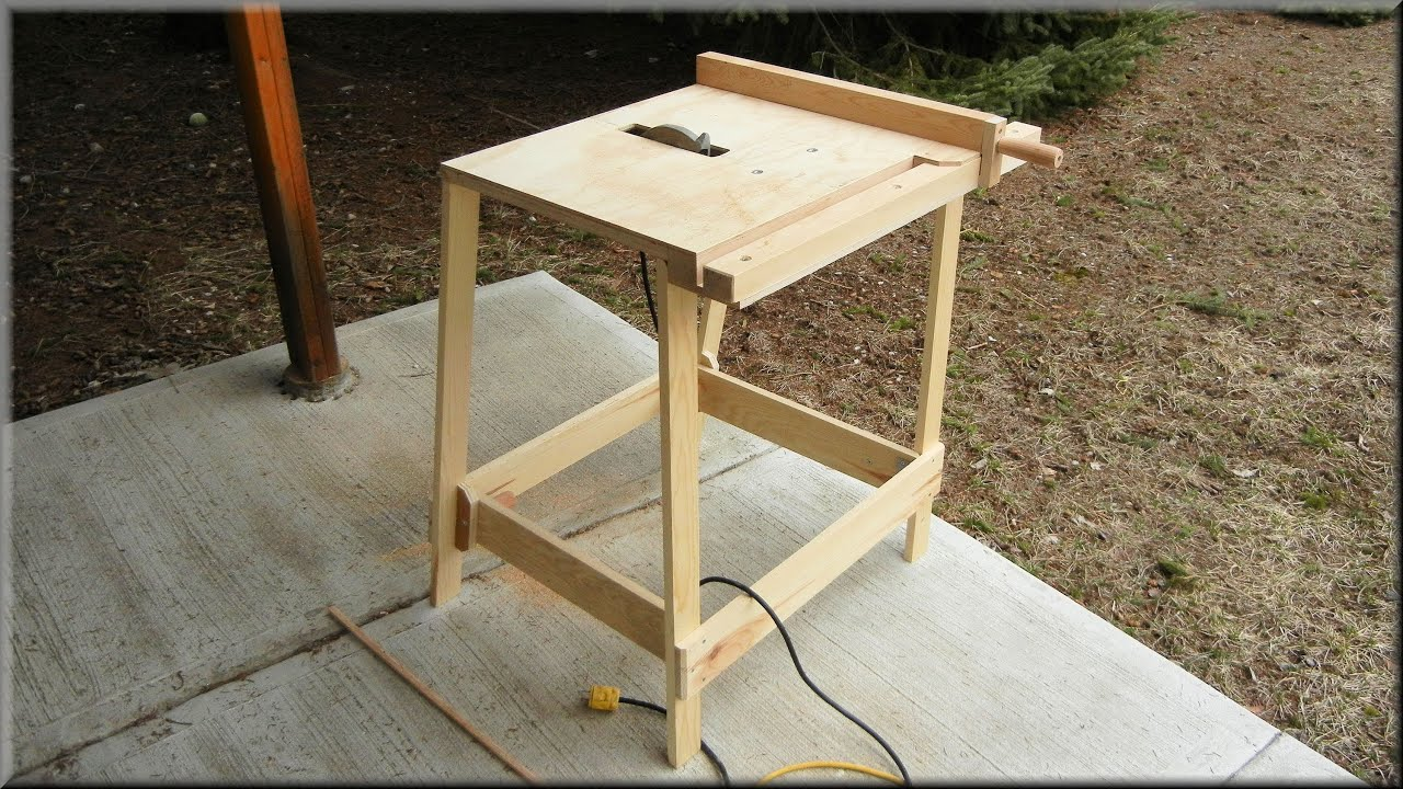 Utility Table Saw - YouTube