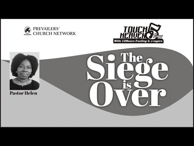 The Siege is Over (TH1 of 5) 01.05.21 - By Pastor Helen