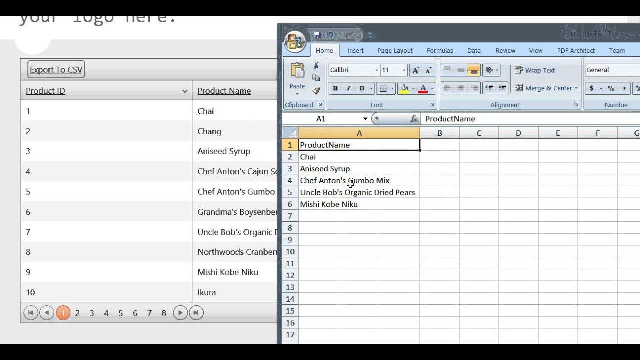 Telerik KendoUI Grid MVC Dynamic change columns and export to CSV