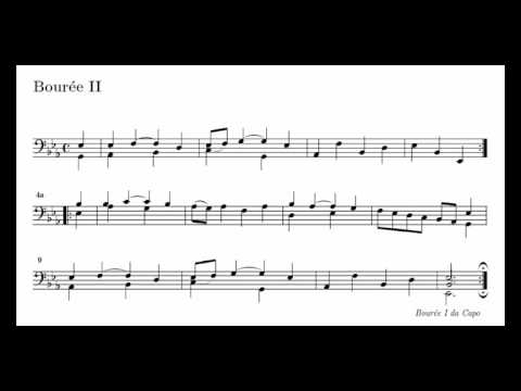 J. S. Bach Cello Suite n. 4 BWV 1010 - 5. Bourrée I / II - Piano Transcription [tbpt28]