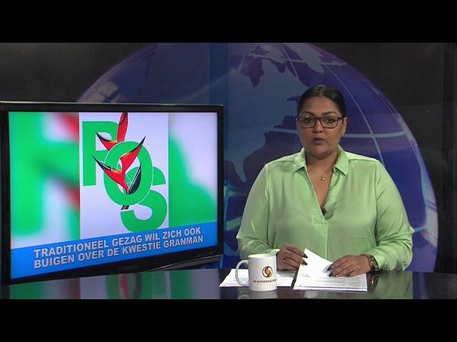 Traditioneel gezag stam der Saramaccaners staat open voor de regering STVS JOURNAAL 25 februari 2021