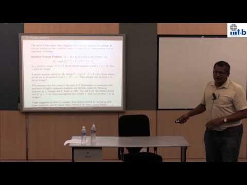 RMIT 2015 - 16 - Prof. R. Thangadurai, H. R. I., Allahabad