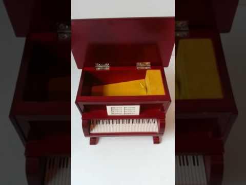 Musical miniature player piano