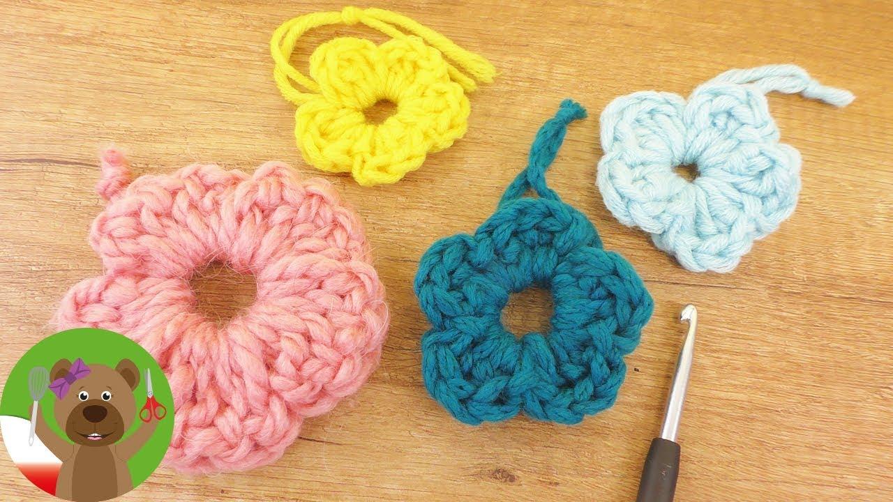 DIY szydełkowanie | wiosenne kwiatki na szydełku | prosty wzorek ze słupków