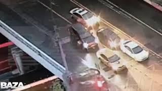 Смотреть видео Специально сбил инспектора полиции в Москве онлайн