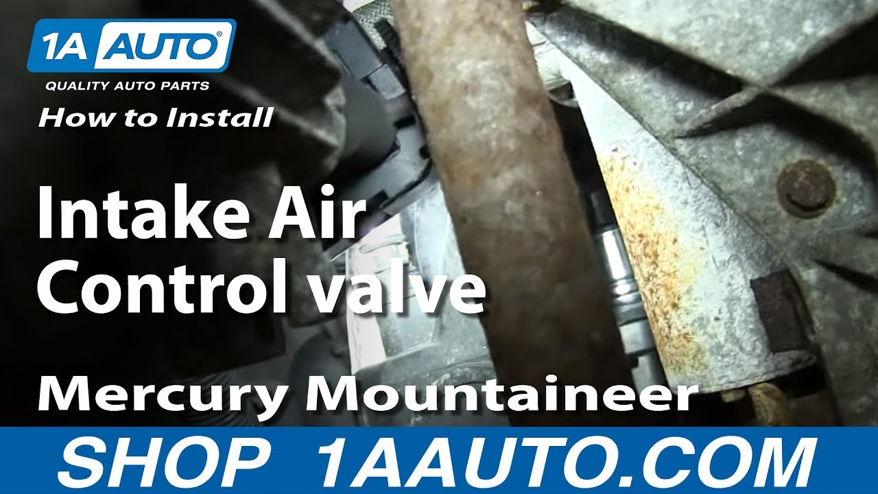 How To Install Replace Intake Air Control Valve 2001 04 20l Ford Escape Mercury Mountaineer 98 Escort Cruise Wiring Diagram
