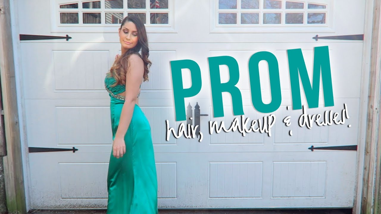 Prom Hair, Makeup + Dress Ideas! - YouTube