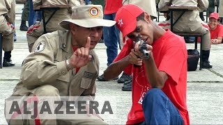 Venezuela army trains for possible US military intervention