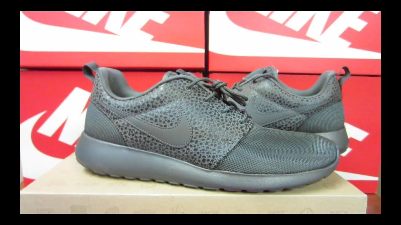 00e63ddcc5e Nike Roshe Run Premium 'Safari Pack' Midnight Fog | Unboxing + On Feet
