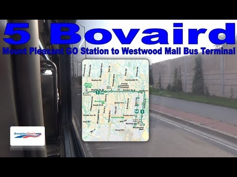 5 Bovaird - Brampton Transit 2012 New Flyer XD40 1316 (Mount Pleasant Stn to Westwood Mall Terminal)