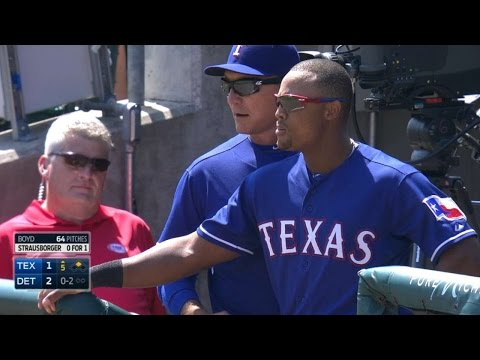 Beltre, Banister get ejected in the 5th