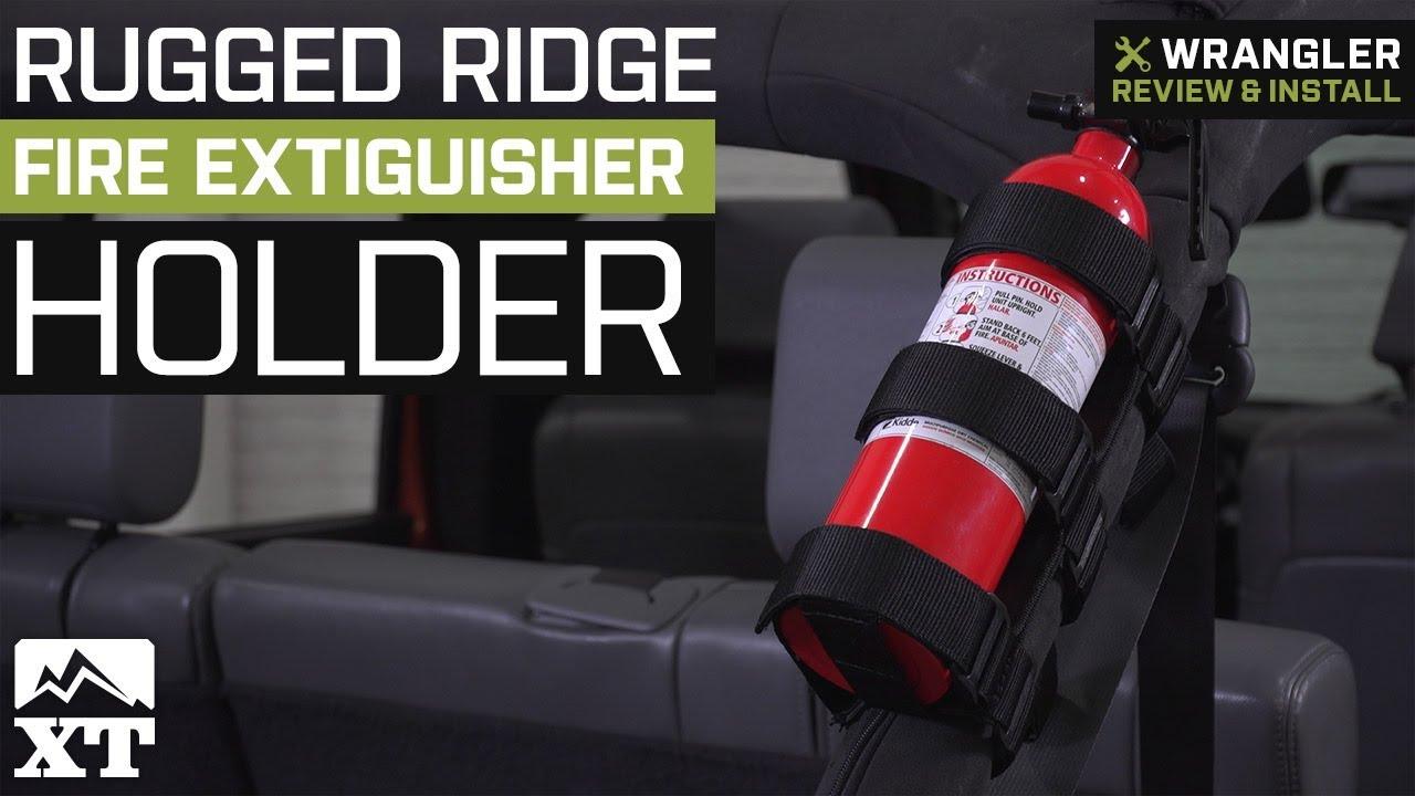 Jeep Wrangler Rugged Ridge Fire Extinguisher Holder 19872018 YJ TJ JK  JL Review  Install