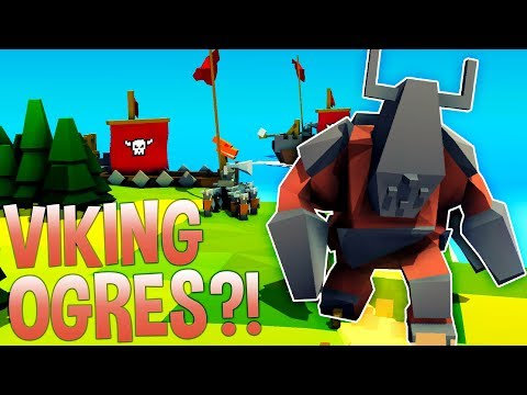 THE VIKINGS HAVE OGRES?! - Kingdoms and Castles Gameplay