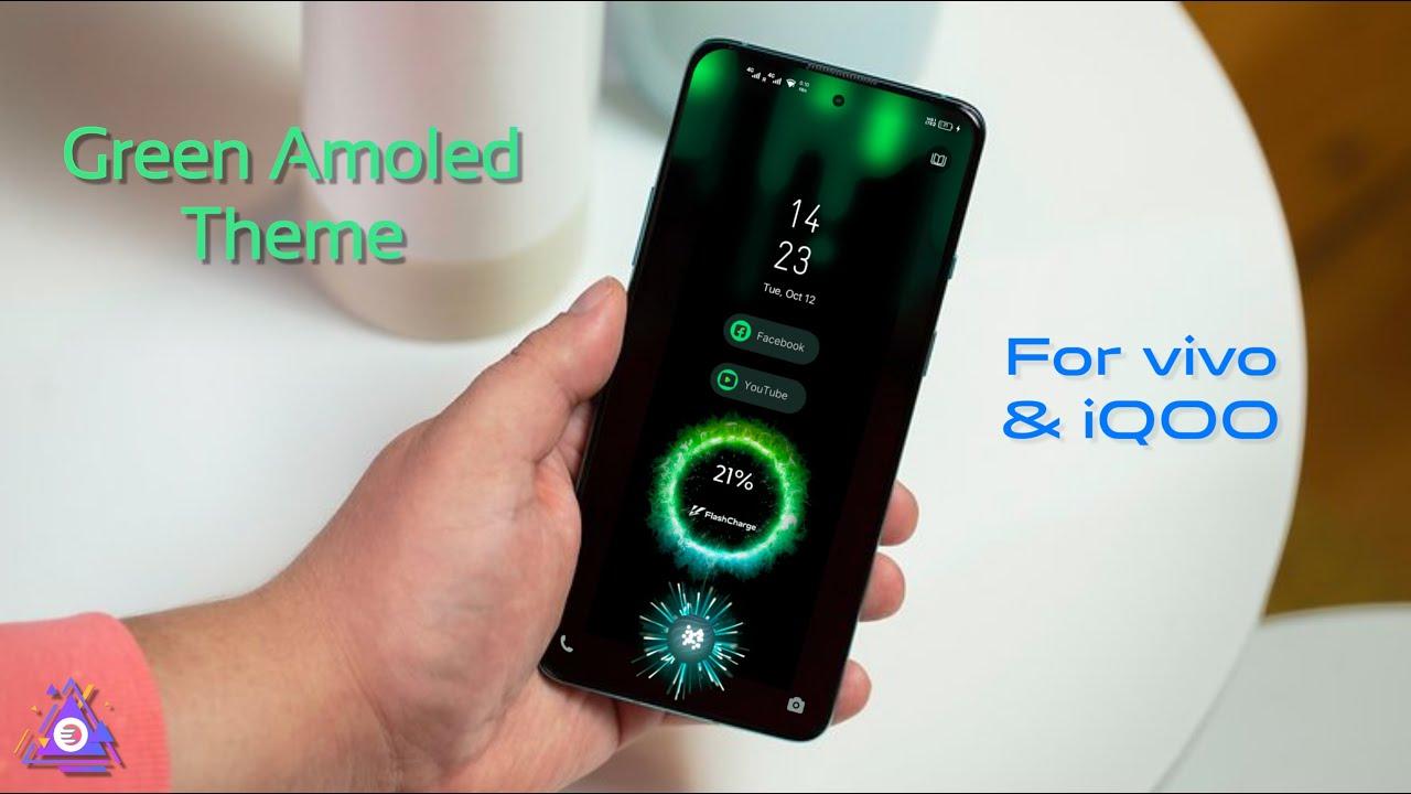 Green Amoled theme for vivo and iQOO Smartphone   Fingerprint animation