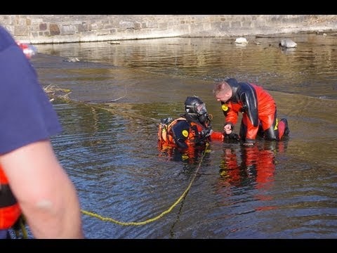 Pit Bull Recovery From Jordan Creek Allentown, PA |  Water Rescue