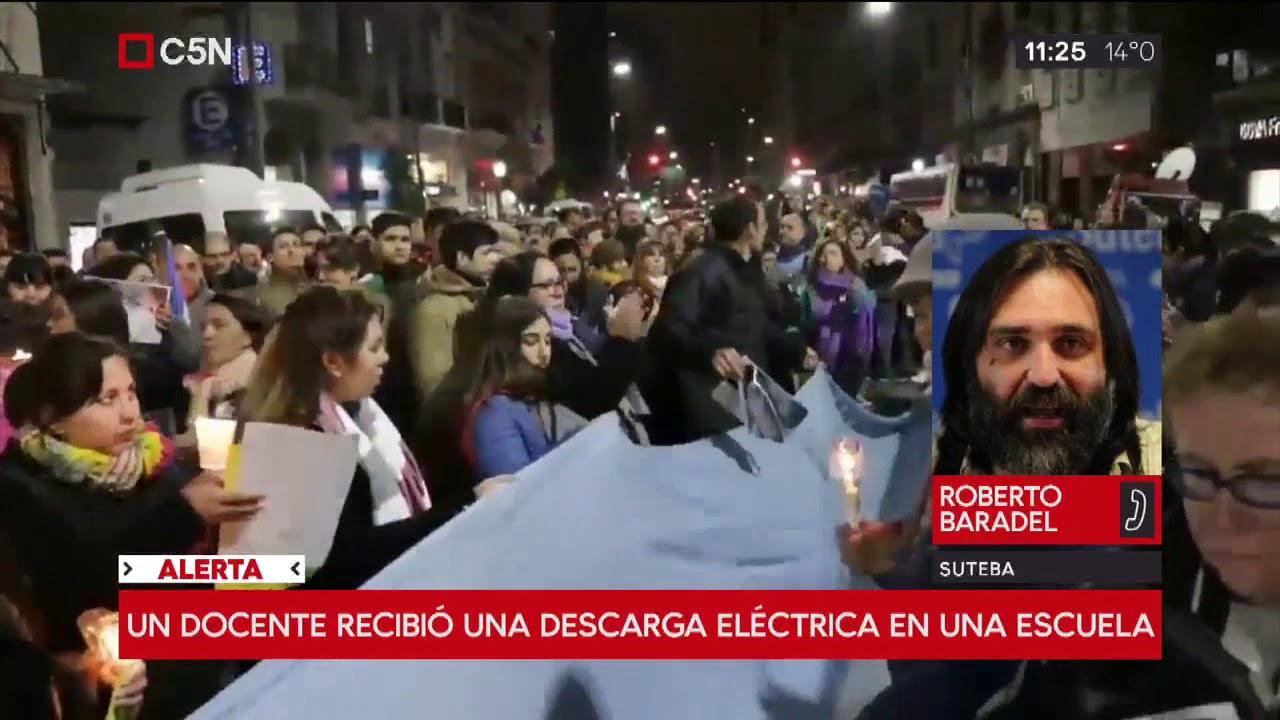 Un docente recibió una descarga eléctrica en Melchor Romero
