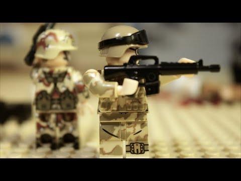 ЛЕГО ВОЙНА В ИРАКЕ - мультик, пятая серия (Долгая дорога домой) Lego Modern Warfare Stop Motion