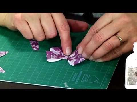How to make Paper Bows with Craftwork Cards | Craft Academy