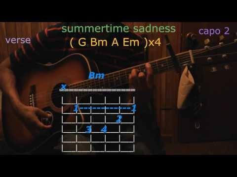summertime sadnesslana del rey guitar chords