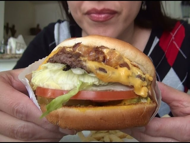 Asmr In N Out Burger Burger Fries Eating Sounds